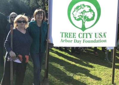 Arbor Day tree planting in Fullerton