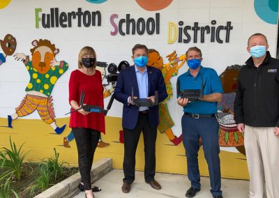Donation to facilitate wifi to Fullerton School District by OC 4th District