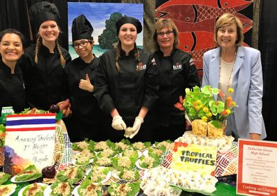 Culinary students show their skills learned in high school